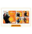 gradient fashion banner template set vector image vector image