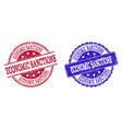 grunge scratched economic sanctions stamp seals vector image vector image