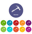 hammer icons set color vector image vector image