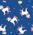hand drawing print design unicorn and slogan star vector image vector image
