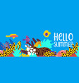 hello summer tropical coral reef art banner vector image vector image