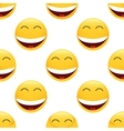 Laughing emoticon pattern vector image vector image