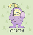 little monster big food hold umbrella seamless vector image