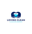 love hand water clean cleaning logo icon vector image