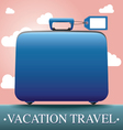 Luggage and travel vacation vector image