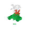 map wales vector image vector image