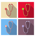 medical stethoscope or phonendoscope isolated on vector image vector image