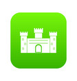 medieval fortification icon digital green vector image vector image