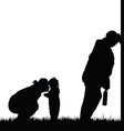 mom with child and drunk man in nature vector image vector image