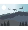 mountains eagles vector image