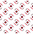 pattern-hulf-black-red vector image