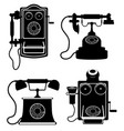 phone old retro vintage icon stock vector image vector image