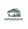 pickup adventure logo vector image vector image