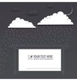 protection trouble rainy day background vector image vector image