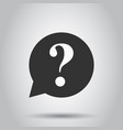 question mark icon in flat style discussion vector image