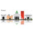 rabat morocco city skyline with gray buildings vector image vector image