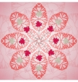 Red floral ornament background vector image vector image
