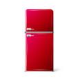 red retro refrigerator vector image