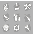 Repair and construction working tools hand drawn vector image vector image