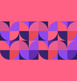 retro purple and coral geometric seamless pattern vector image vector image