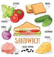 Sandwich vector image