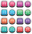 set mail buttons vector image
