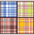 set of seamless checkered vector pattern vector image vector image