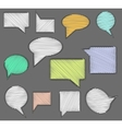 Set of speech bubble icons with scribble hand vector image vector image