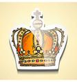 Sketch crown stick vector image vector image