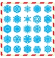 Snowflake silhouettes set vector image vector image