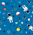 space seamless pattern print design vector image vector image