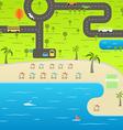 Summer season beach vacation Vacation conce vector image