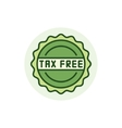 Tax free colorful icon vector image vector image