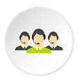 three support phone operators icon circle vector image vector image