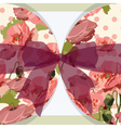 Vintage poppy floral Invitation vector image vector image