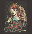 vintage tattoo convention colorful poster vector image vector image