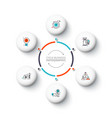 white circle elements for infographic vector image