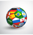 world football championship concept soccer ball vector image