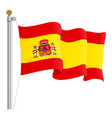 waving spain flag isolated on a white background vector image