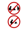 Prohibition sign Kindle Fire vector image
