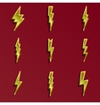 Lightning 3d icons set vector image