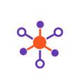 molecule icon on white vector image
