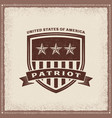 vintage usa patriot label vector image