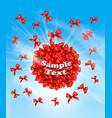 a cloud of bows gift sale concept vector image vector image