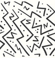 abstract black on white zig zag seamless pattern vector image vector image