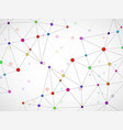 abstract geometric background with connecting dots vector image vector image