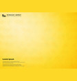 abstract gradient yellow of science pentagon vector image