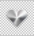 abstract heart sign with metal texture vector image vector image