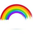 Acrylic painted rainbow vector image vector image