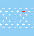 airplanes group fly in one direction and only one vector image vector image